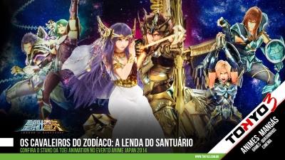 Anime Japan 2014 - Veja o stand da Toei Animation com área de Os Cavaleiros do Zodíaco: A Lenda do Santuário