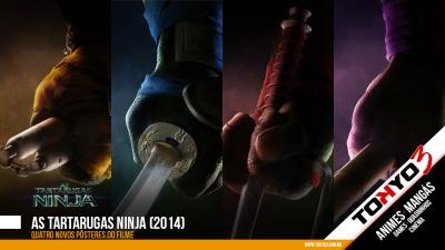 As Tartarugas Ninja (2014) - Confira quatro pôsteres do novo filme
