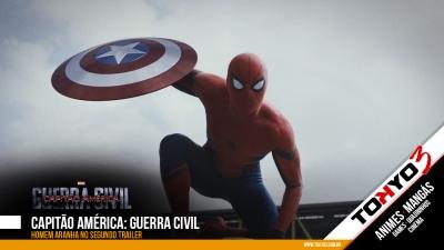 Homem Aranha no segundo trailer de Capitão América: Guerra Civil