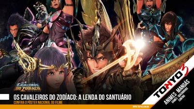 Os Cavaleiros do Zodíaco: A Lenda do Santuário - Pôster oficial do Brasil