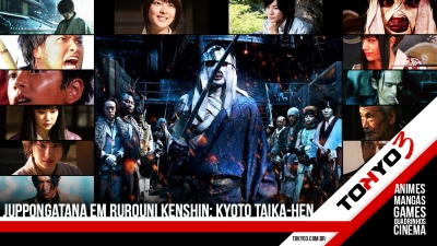 Pôster do Juppongatana em Rurouni Kenshin: Kyoto Taika-hen + elenco