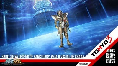 Saint Seiya Legend of Sanctuary, confira o visual de Shaka de Virgem