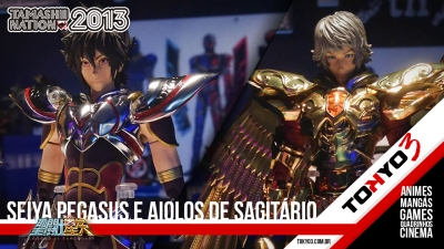 Tamashii Nation 2013 - Saint Seiya Legend of Sanctuary, Cloth Myth de Pegasus e Sagitário