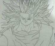 Goku super sayadin NV 3 feito por Tiago Henrique Carvalho Rocha