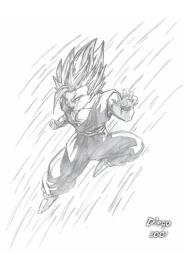 Gohan - O jovem Super Saiyajin feito por Diego Alberto da Silva Tillmann