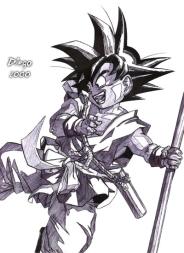Goku especial 10 Anos feito por Diego Alberto da Silva Tillmann