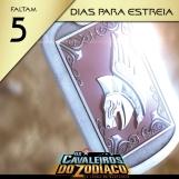 Os Cavaleiros do Zodíaco: A Lenda do Santuário - Contagem regressiva para redes sociais, 5 dias modelo 1