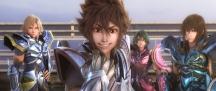 Os Cavaleiros do Zodíaco: A Lenda do Santuário - Imagem promocional - Hyoga, Seiya, Shun e Shiryu
