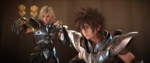 Os Cavaleiros do Zodíaco: A Lenda do Santuário - Imagem promocional - Hyoga e Seiya