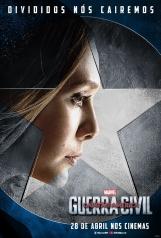 Capitão América: Guerra Civil - Poster da Feiticeira Escarlate - #TimeCapitãoAmérica