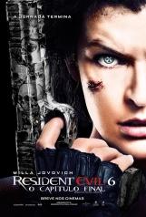 Resident Evil 6: O capítulo final - Pôster Nacional