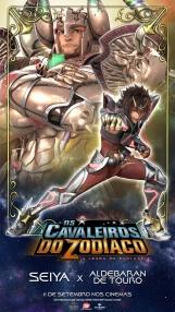 Os Cavaleiros do Zodíaco: A Lenda do Santuário - Pôster especial Seiya vs. Aldebaran